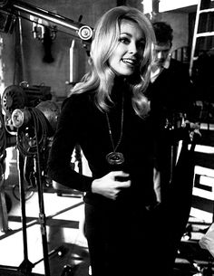 Sharon Tate on the set of Eye of the Devil, 1966.
