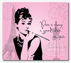French Girl in Seattle explores the origins - and power - of a famous movie quote, Paris is always a good idea. Decoupage, Paris Images, I Love Paris, French Girls, French Baby, Vintage Paris, Sculpture, Audrey Hepburn, Funny Faces