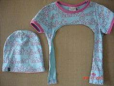 från t-shirt till mössa - Best Sewing Tips Old Baby Clothes, Sewing Clothes, Diy Clothes, Winter Clothes, Sewing For Kids, Baby Sewing, Diy For Kids, Sewing Hacks, Sewing Tips