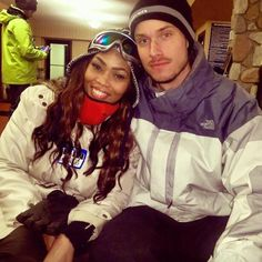 Gorgeous interracial couple on a skiing holiday #love #wmbw #bwwm