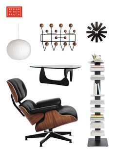 Which is your favorite? Shop our most popular items, from the Eames® Lounge and Ottoman to the Nelson Bubble Lamp®. Design Within Reach offers the world's largest selection of the best in authentic modern design, including furniture, lighting and accessories from designers past and present. Shop now at dwr.com.