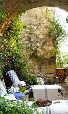 French country garden design pictures remodel decor and for French country courtyard
