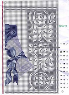 Hand Embroidery, Embroidery Patterns, Cross Stitch Patterns, Flower Basket, My Flower, Le Point, Filet Crochet Charts, Cross Stitch Flowers, Needlepoint