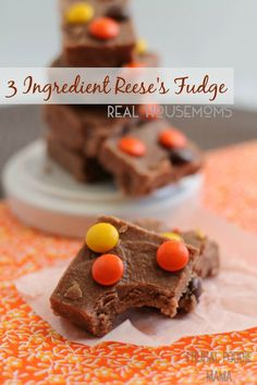 Get your chocolate peanut butter fix quick with this easy 3 Ingredient Reese's Fudge!