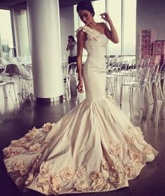 Mermaid wedding gown :)