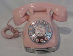 Customizable Bedazzled Pink  Push Button Phone Note by MICSJWL, $95.00
