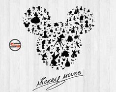 Mickey Mouse Ears SVG, Disney Castle svg, Magic Kingdom, Cinderella, Disney Silhouette Clipart, DXF, Cut files, Instant Download