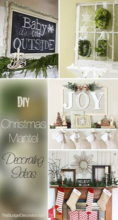 DIY Christmas Mantel Decorating Ideas • Ideas and tutorials!
