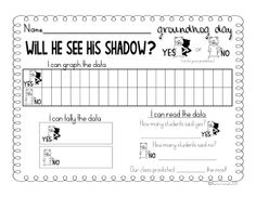 Groundhog Day Graphing FREEBIE!