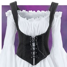 Black Twill Bodice - New Age, Spiritual Gifts, Yoga, Wicca, Gothic, Reiki, Celtic, Crystal, Tarot at Pyramid Collection