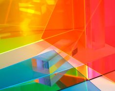 Floating Neon Color Fields, Made From Plastic from Boston-based artist Bahar Yurukoglu What Is Fake, Best Office, Artistic Installation, Light Art Installation, Plastic Art, Acrylic Sheets, Acrylic Art, Neon Colors, Vibrant Colors