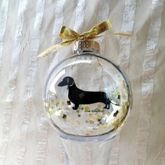 Great gift for the upcoming  holiday season!   http://www.etsy.com/listing/110641095/dog-silhouette-ornament-globe-dachshund
