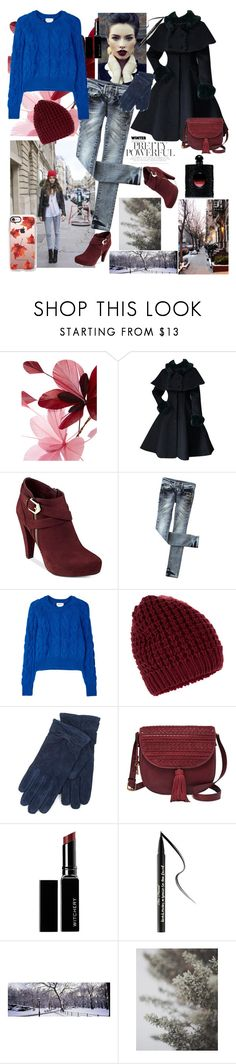 """""""Today's Street Fashion outfit"""" by griselvega420 ❤ liked on Polyvore featuring Valentino, G by Guess, DKNY, Accessorize, Isotoner, FOSSIL, Witchery, Too Faced Cosmetics and Casetify"""