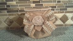 Home Accent Decorated Glass Container by DSKDesign on Etsy