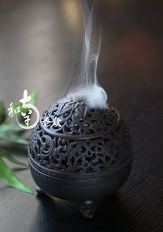 Gorgeous incense burner - perfect for yoga & meditation altar. Add scent to enhance every experience and to deepen your meditation #mindfulexperience #mindfulness #mindful #meditation #incenseburner #incense #peacefulhome #pause #powerpause #justbreathe #breatheandbe #meditationroom #meditationspace Meditations Altar, Buddha, Deco Zen, Zen Space, Zen Room, Meditation Space, Yoga Meditation, Meditation Corner, Incense Holder