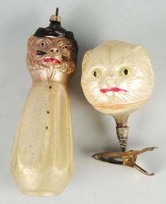 Lot of 2: Rare Figural Christmas Ornaments.