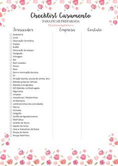 Wedding Bells: Checklist para o Casamento