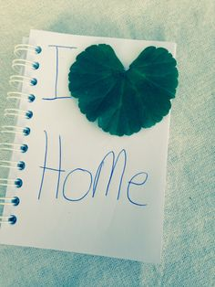 Leaf art geranium I heart home love by Grace x