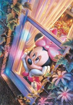 Minnie Mouse waiting on mickey mouse Mickey Mouse Wallpaper Iphone, Cute Disney Wallpaper, Retro Disney, Disney Art, Disney Images, Disney Pictures, Mickey Mouse And Friends, Disney Mickey Mouse, Princesas Disney Dark