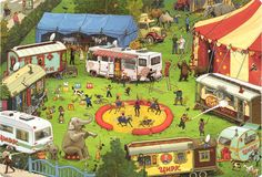 разворот из книги «В цирке»