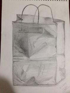 Kraft poşet çizimi