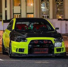 Mitsubishi EVO X • Neon Yellow