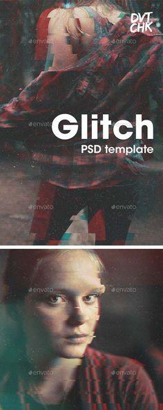 GraphicRiver Glitch Photoshop Photo Template