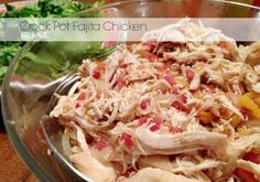 Crock Pot Fajita Chicken | Popular Paleo - only a few simple ingredients required to get perfectly seasoned shredded chicken on the table at the end of a long day!  #paleo #slowcooker #crockpot #healthy #diet