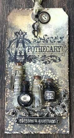 that crazy chick: VI; Oct 2018 - Photography, Landscape photography, Photography tips Halloween Scrapbook, Halloween Tags, Halloween Crafts, Halloween Decorations, Atc Cards, Card Tags, Gift Tags, Vintage Bottles, Antique Bottles