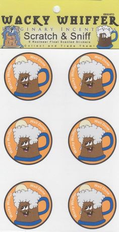 Wacky Whiffer Scratch and Sniff Stickers Rootbeer Float Scented #SII016E3 #WackyWhiffer #ScratchSniff
