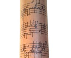 Roll of gift wrap for musicians and music lover gifts and presents for the holidays or any occasion all year. Use for wrapping presents or crafts.