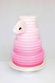 ombre cake obsession #cake, #ombre