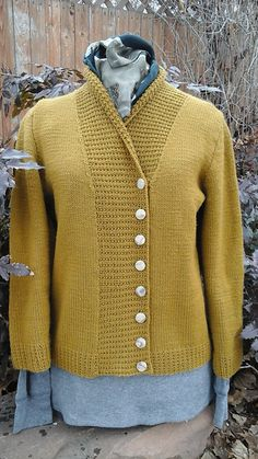 Knitting Pattern for Essential Cardigan - #ad Easy  sweater pattern Pictured project by togthel tba