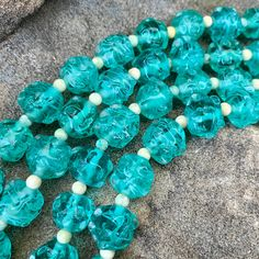 Vintage Turquoise Blue Faceted Bead Necklace 55 inch Long Blue Beaded Necklace Fashion Accessory Retro 60s 70s 80s  Long Beads Necklace