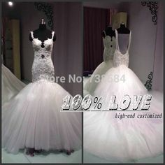 Find More Wedding Dresses Information about Free Shipping Spaghetti Straps Lace Application See Through Back Pearls Straps Mermaid Beautiful Pakistani Wedding Dresses ,High Quality lace white dress,China lace front wigs for black women Suppliers, Cheap lace evening dress from 100% Love Wedding Dress & Evening Dress Factory on Aliexpress.com