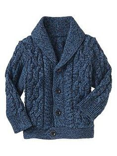 Marled cable shawl cardigan. Precious Hipster baby.