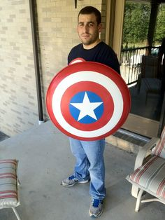 This guy shows you how to make your own Captain America shield. Well, you can always paint it differently for you favorite superhero.