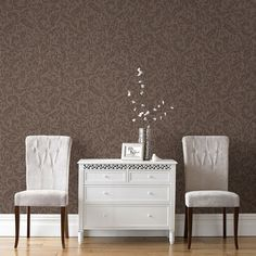 Cashmere Chocolate / Copper Wallpaper by Graham and Brown