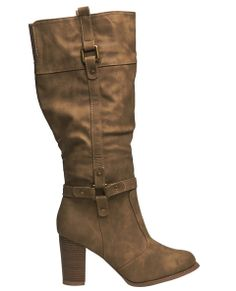 Hardware Chunky Heel Boot - Wet Seal