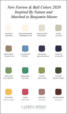 There have been requests to go over the new Farrow & Ball colors 2020 inspired by the Museum of Natural History and match them to Benjamin Moore colors. Farrow Ball, Farrow And Ball Paint, Benjamin Moore Colors, Benjamin Moore Paint, Exterior House Colors, Exterior Paint, Shadow Tree, Matching Paint Colors, Interior Paint Colors