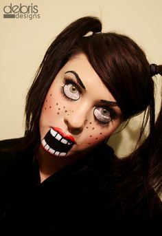 Creepy Halloween Makeup by Debris Designs
