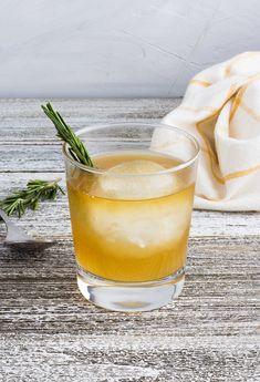 Meyer Lemon & Rosemary Bourbon Cocktail — Wellness By Kristen Meyer Lemon & Rosemary Boourbon Cocktail Bourbon Cocktails, Ginger Cocktails, Festive Cocktails, Whiskey Drinks, Cocktail Recipes, Bourbon Sour, Whiskey Sour, Rosemary Cocktail