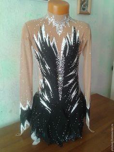 Купить Платье для фигурного катания - черный, рисунок, для фигурного катания, платье, для выступления, купить, сшить