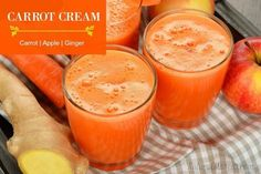 Carrot Cream Juice - Carrot, apple, ginger. Perfect for the digestive system.