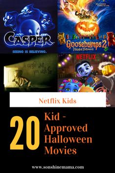 20 Movies Now Streaming on Netflix Kids that Are Perfect for Halloween - Sonshine Mama Halloween Movies List, Halloween Songs, 31 Days Of Halloween, Family Halloween Costumes, Spirit Halloween, Scary Halloween, Vintage Halloween, Halloween Crafts, Halloween Decorations