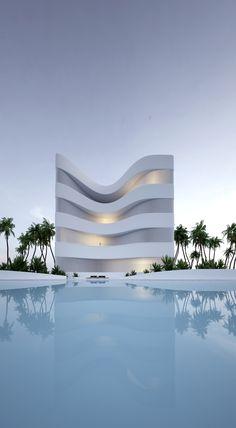 by Roman Vlasov Futurism Architecture, Minimal Architecture, Architecture Photo, Amazing Architecture, Landscape Architecture, Neo Futurism, Interior Design And Graphic Design, Villa, Dream House Exterior