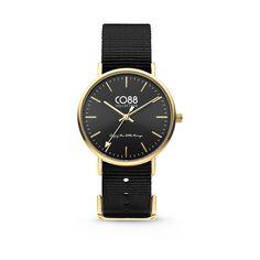 CO88 Collection 8CW-10019 - Horloge - Nato nylon - zwart - 36 mm. CO88 staat bekend om haar prachtige sieraden lijn dat geïnspireerd is uit de natuur. Sinds kort heeft CO88 haar collectie verbreedt en de uitkomst is deze verbluffende horlogecollectie. Het horloge is in verschillende varianten te verkrijgen, ruime keuze!