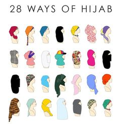 28 hijab styles---repinning this for nishat