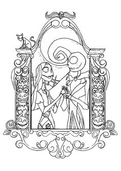 top 25 nightmare before christmas coloring pages for your little ones - Nightmare Before Christmas Coloring Book