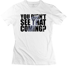 CXY Women's Quicksilver You Did't Not See That Coming T-Shirt - White... ($23) ❤ liked on Polyvore featuring tops, t-shirts, shirts, the avengers, quiksilver, white shirt, white tee, tee-shirt and white top